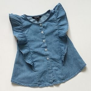 Blue Ruffle Shirt * Size 4 Toddler